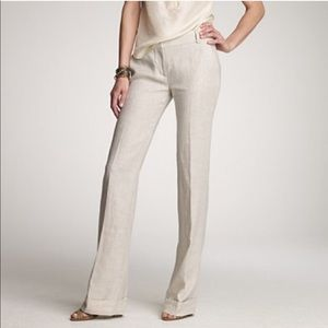 J. Crew | NWT 100% Linen Ivory Trouser Pant Size 4